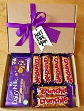 Cadbury Crunchie Chocolate Personalised Letterbox Hamper Xmas Birthday Gift