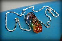 7 Chakra Crystal Pendant /Necklase Chakra Healing Reiki EMF ProtectionUSA Seller