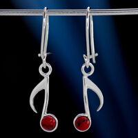 Koralle Silber 925 Ohrringe Damen Schmuck Sterlingsilber H0582