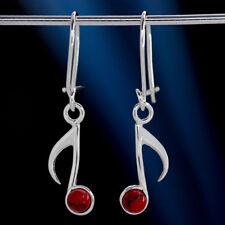 Koralle Silber 925 Ohrringe Damen Schmuck Sterlingsilber H582