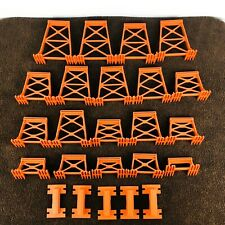 Vintage Gilbert American Flyer Railroad Trestle Set Complete 24 Pc A19