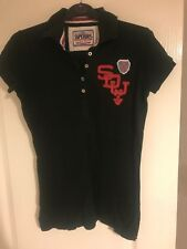 ladies Superdry Top T shirt size S Small womens navy
