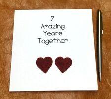 7th Wedding Anniversary Card Wool Anniversary Husband Wife Handmade