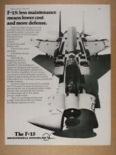 1977 McDonnell Douglas F-15 Eagle Fighter Jet vintage print Ad