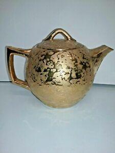 Vintage Mccoy Teapot weeping 24 k  gold