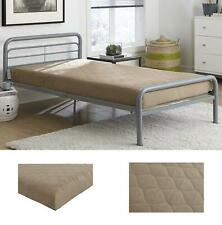 Twin Size 6 Inch Quilted Top Bunk Bed Mattress Comfort Polyester Gray/Beige/Pink