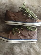 Boys NEXT smart Casual Shoes. Brown With Bright Laces. Size 6 Infants.Narrow Fit