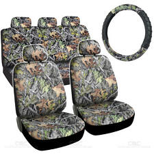 9 Piece Car Seat Covers Steering Wheel Set Woods Hawg Camo for Auto Truck SUV