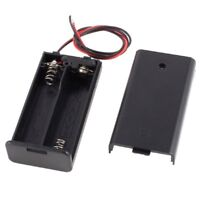 2 x AA 3V Battery Holder Case Box Slot Wired ON/OFF Switch w Cover V5Q8