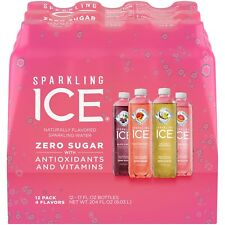 12-PACK Sparkling Ice Variety Pack Soft Drink 17 oz Bottles Party Drinks