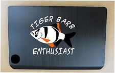 Tiger barb aquarium fish decal