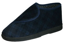 Men's Dunlop Wide Fit Touch Fastening Boot Slippers