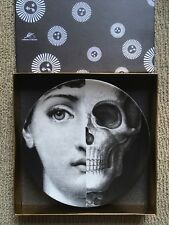 Fornasetti Plate Tema e Variazione #288 Julia Lina w/Skull, Mint, Milan ORIG!