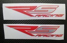 Aprilia Rs Racing 125 250 Motocicleta gráficos Stickers Calcomanías X 2 En Rojo Al Cromo