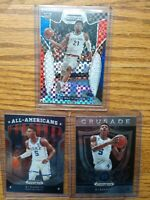 2019 Rui Hachimura Panini Prizm Draft Picks Red White Blue/99 & RJ Barrett RC x2