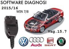 DIAGNOSI CAVO USB VAG 15.7 .1 Software  AUDI VW SEAT SKODA X AUTO