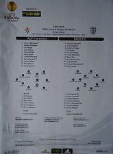 Line-ups UEFA EL 2014/15 ACF Fiorentina - PAOK Saloniki