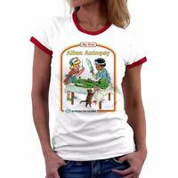 My First Alien Autopsy print Funny Ringer Women T-Shirt cotton short sleeve