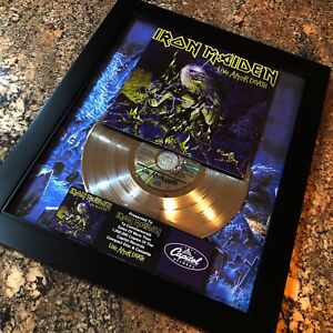 Iron Maiden Live After Death Million Record Sales Music Award Album LP Vinyl