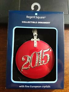 Christmas Ornament 2015 with Fine European Crystals Regent Square New In Box