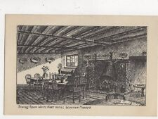 Dining Room White Hart Hotel Wickham Market Suffolk Vintage Postcard 758a
