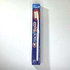 Crest Complete Small Soft Straight Toothbrush 1992 White Blue USA Vintage NOS