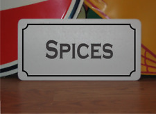 Spices Metal Sign