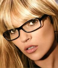 New Slim Fashion OFFICE SECRETARY SEXY Clear Lens Rectangle Plain Glasses Black