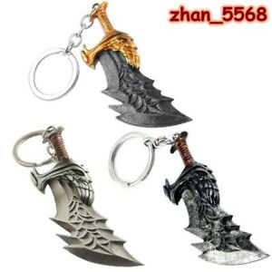 Game God of War Kratos Weapon Blades of Chaos Alloy Keychain Key Chains Keyring