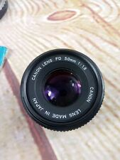 Canon 50mm 1: 1.8 FD-Mount Manual Focus Lens