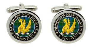 Johnston Scottish Clan Cufflinks in Chrome Box