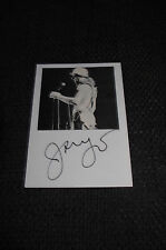 JANGO EDWARDS signed Autogramm auf 10x15 cm Karteikarte InPerson LOOK