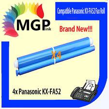 4x PANASONIC KX-FA52 COMPATIBLE FAX FILM ROLLS FA52 KX-FC228 KX-FC255 KX-FP253