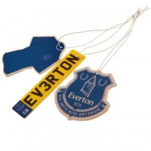 Everton Football Club FC 3Pk Triple Car Air Freshener Freshner EFC EPL Toffees