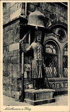 Nordhausen am Harz Thüringen s/w AK ~1920/30 Roland am alten Rathaus ungelaufen