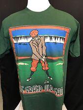 "Men's Vtg ""The Grand Old Game"" Golf T-Shirt By Nutmeg Mills Sz L Green"