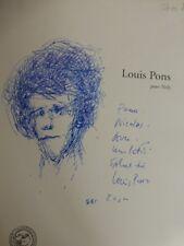 """Gilbert Lascault """"Louis Pons"""", Le Lit du Vent 1996 . Dessin Original signé. TBE"""