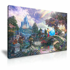 DISNEY PRINCESS KIDS CANVAS WALL ART PICTURE PRINT Dimensioni A1 76x50cm OFFERTA SPECIALE