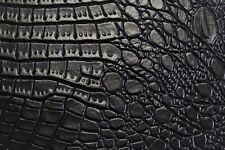 Black Alligator Auto Pro Vinyl Fabric Automotive Seat Cover By The Yard 54