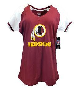 Washington Redskins Women's NFL Majestic V Neck Shirt Plus Size