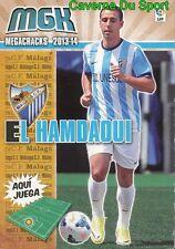486 EL HAMDAOUI MOROCCO NUEVO FICHAJE MALAGA.CF CARD MAGACRACKS LIGA 2014 PANINI