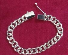 Silver? (Plated) Curb Chain Bracelet. Stamped 925