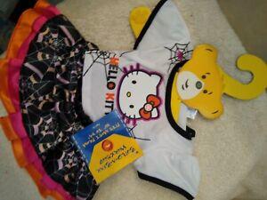 Build a Bear Hello Kitty Halloween set 2 nwt