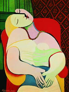 Pablo Picasso The Dream Giclee Canvas Print Paintings Poster LARGE SIZE