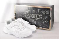 Youth Boy's Skechers Ultrasonix-Book Smart Hook & Loop Shoes, White