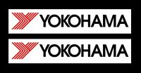 Yokohama Tyres Race Car Sponsor Logo Stickers x 2
