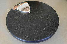 Great 50s 60s Black Gold Glitter Atomic Mid Century Counselor Bathroom Scale VTG