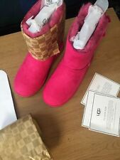 UGG Bailey Bow Boots Princess Pink Size UK 3 Will fit UK 4