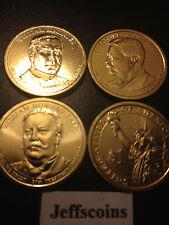 2013 D Woodrow Wilson Taft Teddy Roosevelt McKinley Presidential Dollars 4 Coins