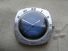 "STUNNING RAREST VINTAGE TIMEX 1969""MOON"" DYNABEAT ELECTRIC,CHROME/SS, NEEDS HELP"